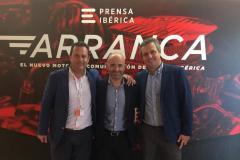 Jose Luis Alonso con Antonio Lobato y Pepe Piñera