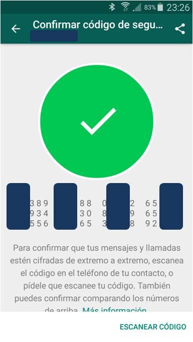 Paso 4 Cifrar WhatsApp