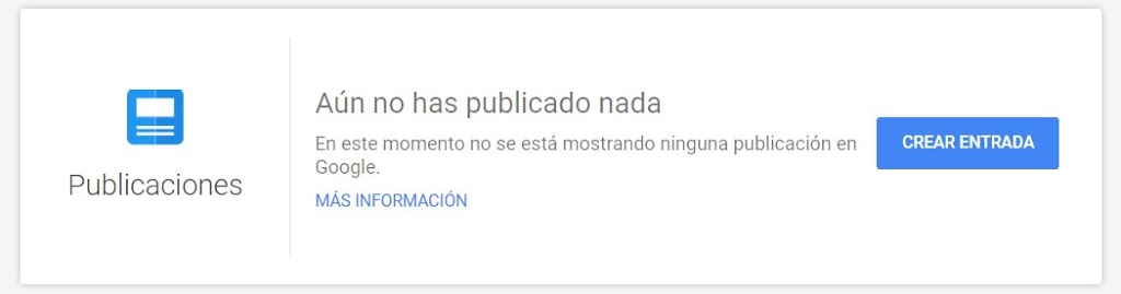 Nueva entrada en Google My Business